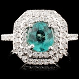 14K Gold 1.23ct Tourmaline & 0.63ctw Diamond Ring
