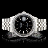 Rolex SS DateJust 1.50ct Diamond 36mm Watch