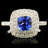 14K Gold 1.14ct Tanzanite & 0.89ctw Diamond Ring