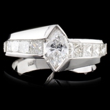 14K Gold 1.55ctw Diamond Ring