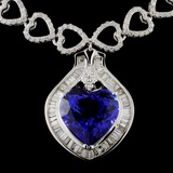 18K White Gold 8.85ct Tanzanite & 3.72ct Diamond N