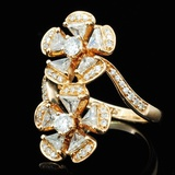 18K Rose Gold 1.93ctw Diamond Ring
