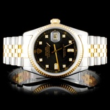Rolex Two Tone DateJust Diamond 36MM Wristwatch