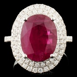 18K Gold 4.69ct Ruby & 0.64ctw Diamond Ring
