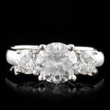 14K White Gold 2.14ctw Diamond Ring