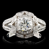 14K White Gold 2.96ctw Diamond Ring