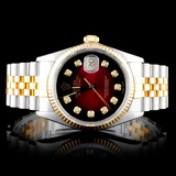 Rolex Two-Tone 36MM DateJust Diamond Wristwatch
