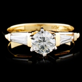14K Yellow Gold 0.87ctw Diamond Ring