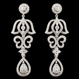 14K Gold 1.77ctw Diamond Earrings