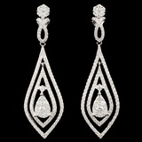 14K White Gold 1.63ctw Diamond Earrings