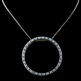 18K White Gold 0.92ctw Fancy Color Diamond Pendant