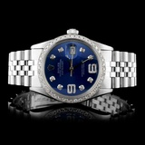 Rolex SS DateJust 36MM Diamond Watch