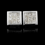 18K White Gold 0.92ctw Diamond Earrings