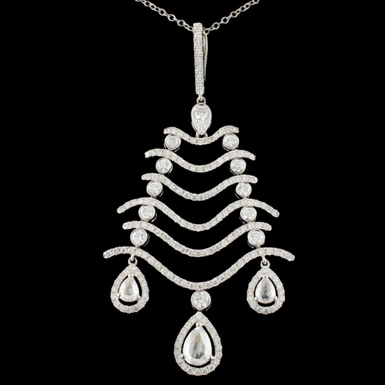 18K Gold 2.76ctw Diamond Pendant