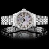 Rolex SS DateJust Ladies Diamond Wristwatch