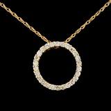 14K Gold 0.73ctw Diamond Pendant