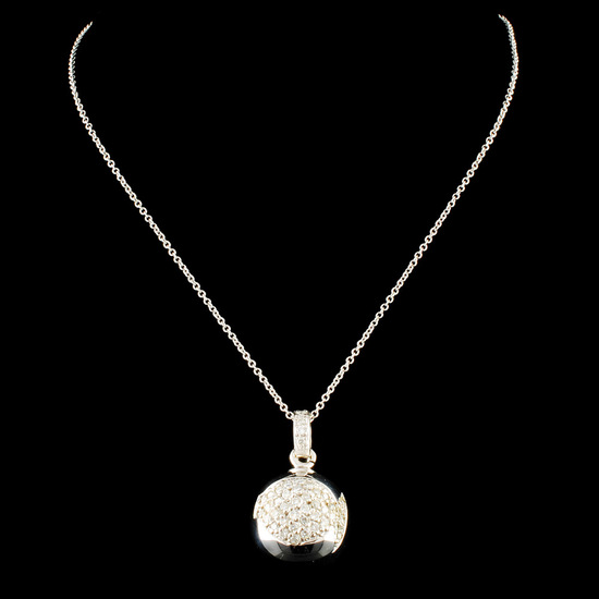 18K Gold 0.43ctw Diamond Pendant