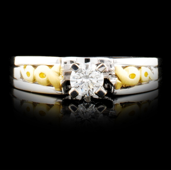 18K Gold 0.35ctw Diamond Ring