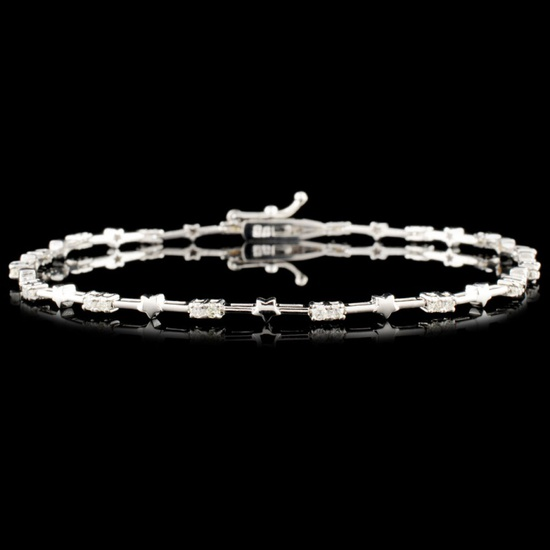 18K Gold 0.35ctw Diamond Bracelet