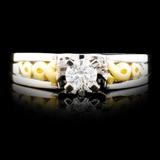 18K Gold 0.35ctw Diamond Ring