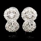 18K Gold 1.63ctw Diamond Earrings