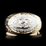 18K Gold 0.43ctw Diamond Ring