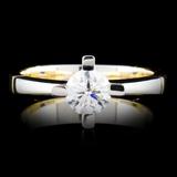 18K Gold 0.44ctw Diamond Ring