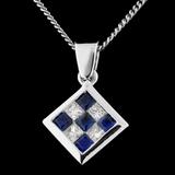 18K Gold 0.30ct Sapphire & 0.19ct Diamond Pendant