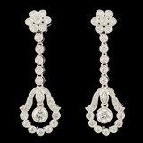 14K Gold 1.14ctw Diamond Earrings
