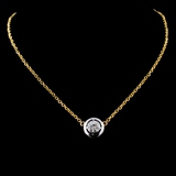14K Yellow Gold 0.44ct Diamond Necklace