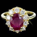 14K Gold 2.50ct Ruby & 1.00ctw Diamond Ring