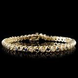 14K Yellow Gold 1.78ct Sapphire & 0.89ct Diamond B