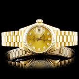 Rolex 18K YG Diamond Ladies Wristwatch