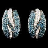 14K Gold 1.98ctw Fancy Color Diamond Earrings
