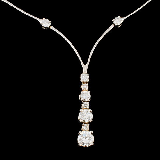 14K Gold 1.40ctw Diamond Necklace