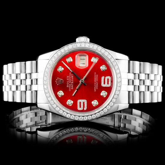 Rolex DateJust SS Diamond Wrsitwatch