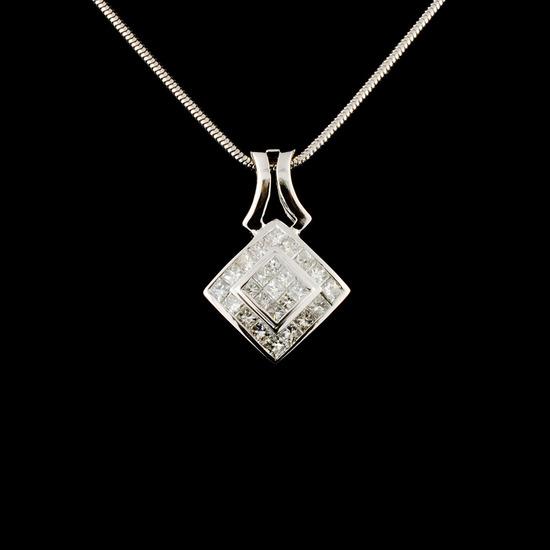 18K Gold 1.90ctw Diamond Pendant