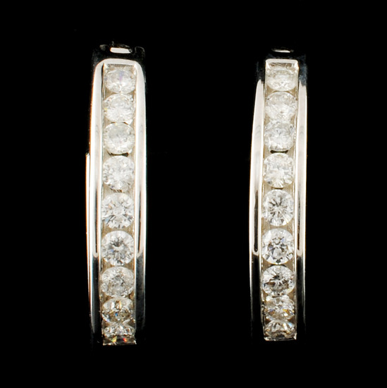 14K Gold 0.45ctw Diamond Earrings