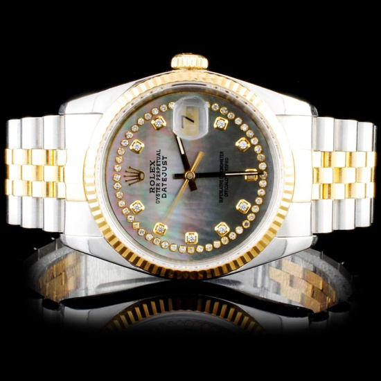 Rolex Two-Tone 36MM DateJust Diamond Watch