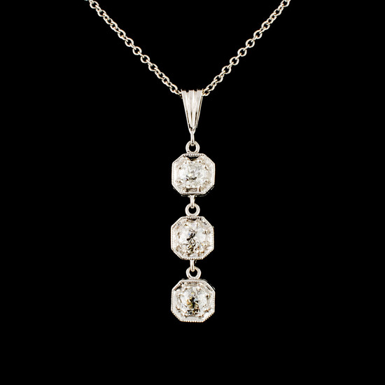14K Gold 0.45ctw Diamond Pendant