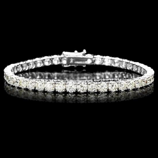 ^18k White Gold 12.00ct Diamond Tennis Bracelet