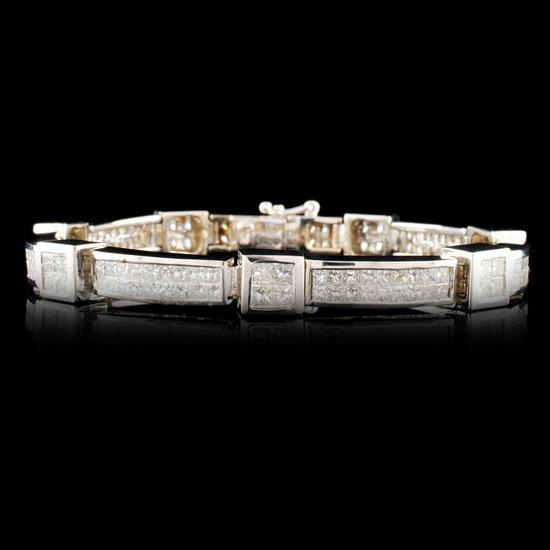 18K Gold 8.82ctw Diamond Bracelet