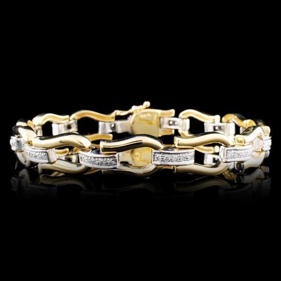 14K Gold 0.18ctw Diamond Bracelet