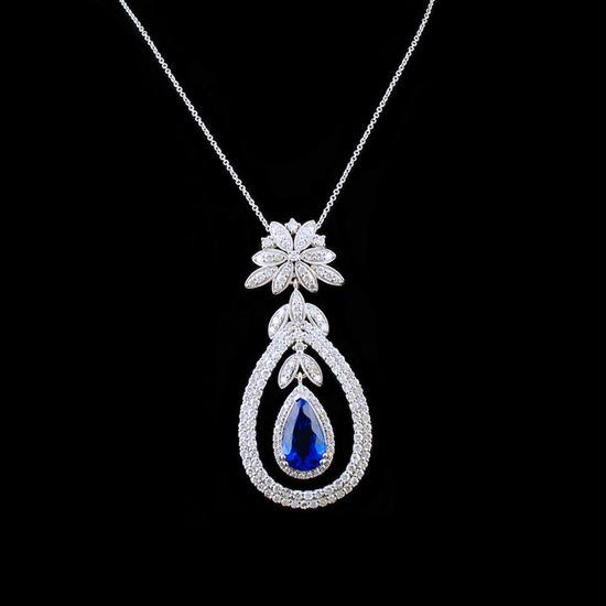 18k White Gold 4.09ct Tanzanite & 2.50ctw Diamond