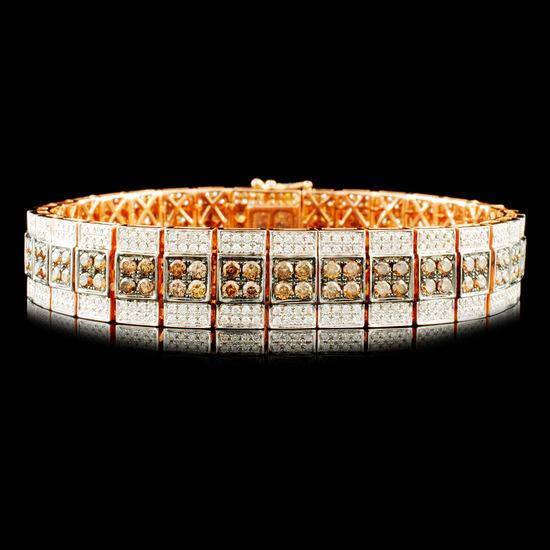 14K Gold 6.36ctw Diamond Bracelet
