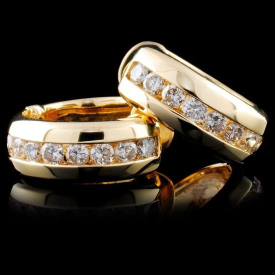 14K Gold 1.31ctw Diamond Earrings