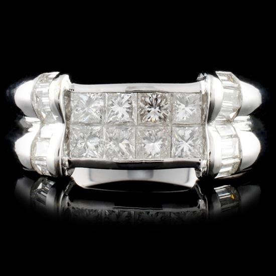 18K Gold 1.58ctw Diamond Ring