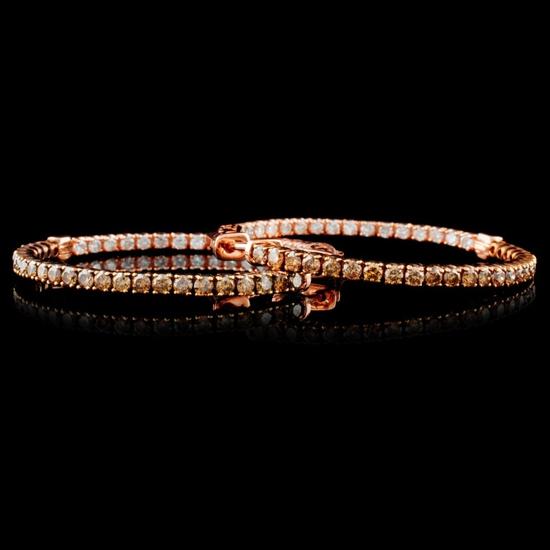 14K Rose Gold 2.05ctw Fancy Color Diamond Earrings