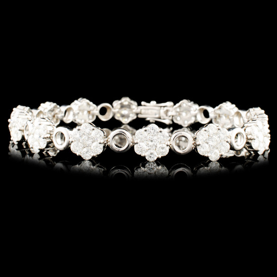 18K Gold 6.77ctw Diamond Bracelet