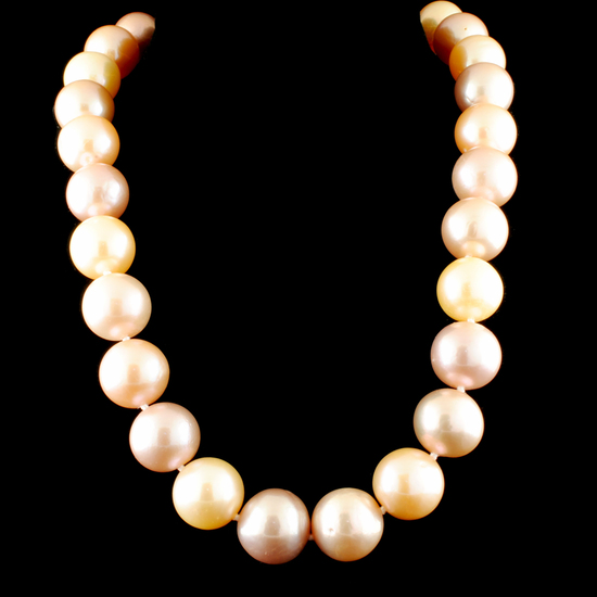 14K Yellow Gold 12-16MM Rose South Sea Pearl